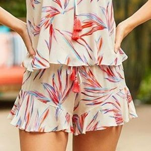 Le Marche by NP flounce shorts tassel